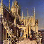 Johann Adam Klein - Tower of the Milan cathedral