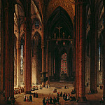 Ernst Ferdinand Oehme - In the Cathedral of Milan
