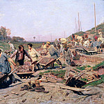 Zinaida Serebryakova - Repair Works on the Railway Line