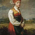 Petrus van Regemorter - Girl from Vingåker