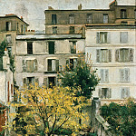 Franz von Lenbach - Houses at Montmartre