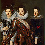 Portrait of Marie Madeleine of Austria, Cosimo II and Ferdinand II de Medici