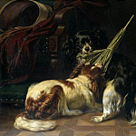 Carl Steffeck - Playing dogs