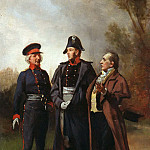 Hugo von Habermann - Friedrich Wilhelm III in conversation with Stone and York