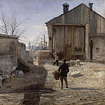 Abraham Schopfer - Demolishing the Old Orphanage, Stockholm