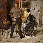 Fritz Von Uhde - In the studio