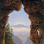 Johann Anton Ramboux - Gate in the Rocks