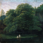 Karl Friedrich Schinkel - Landscape with two bathing children