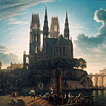Joseph Anton Koch - Gothic Cathedral by the Water
