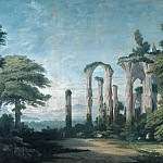 Wilhelm Barth - Gothic cloister ruin with groups of trees
