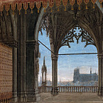 Carl Blechen - Gothic Hall with views of Reims