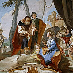 Laban searches for the images of gods, hidden by Rahel, Giovanni Battista Tiepolo