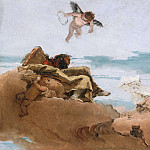 Giovanni Battista Tiepolo - Study for a Ceiling with the Personification of Counsel