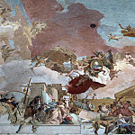 Giovanni Battista Tiepolo - Apollo and the Continents, detail - Europe