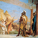 Eurybates and Talthybios Lead Briseis to Agamemmon, Giovanni Battista Tiepolo