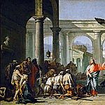 Jesus Healing the Paralytic at the Pool of Bethesda, Giovanni Battista Tiepolo