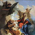 The Holy Family appears to Saint Cajetan, Giovanni Battista Tiepolo