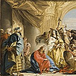 Giovanni Battista Tiepolo - Christ and the Woman taken in Adultery