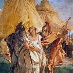 Eurybates and Talthybios Lead Briseis to Agamemmon, detail, Giovanni Battista Tiepolo