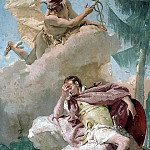 Mercury Appearing to Aeneas, Giovanni Battista Tiepolo