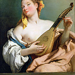 Girl with a Mandolin, Giovanni Battista Tiepolo