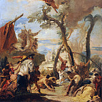 The Hebrews gathering Manna in the Wilderness, Giovanni Battista Tiepolo