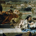 Giovanni Battista Tiepolo - Intercession of St. Thecla during the plague in Veneto 1630 (detail)