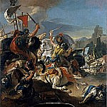 Giovanni Battista Tiepolo - The Battle of Vercellae