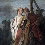 Giovanni Battista Tiepolo - Young man with a bow and his companion with a shield