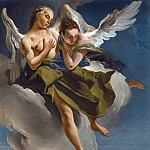 TWO ANGELS IN FLIGHT, Giovanni Battista Tiepolo