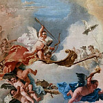 The chariot pulled by love doves, Giovanni Battista Tiepolo