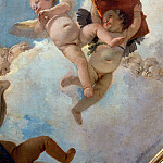 Angel with scrolls and putti taking the book detail, Giovanni Battista Tiepolo