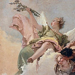 Angel with lily and a putto handing the scapular, Giovanni Battista Tiepolo