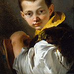 Giovanni Battista Tiepolo - Portrait of a Boy Holding a Book