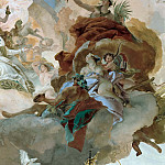 Apollo leads Beatrice of Burgundy as bride to Emperor Frederick Barbarossa, detail – Bacchus, Venus and Ceres, Giovanni Battista Tiepolo