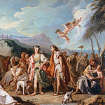 The meeting of Anthia and Abrokomes at the festival of Diana, Giovanni Battista Tiepolo