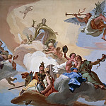 Glory among the virtues justice, fortitude, temperance and prudence, Giovanni Battista Tiepolo