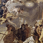 Giovanni Battista Tiepolo - The Trinity in glory appears to Pope Clement I