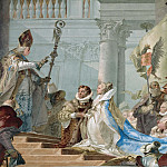 The Marriage of the Emperor Frederick Barbarossa to Beatrice of Burgundy, detail, Giovanni Battista Tiepolo