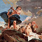 Amphion raising the walls of Thebes with his lyre, Giovanni Battista Tiepolo