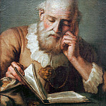Old man reading, Giovanni Battista Tiepolo