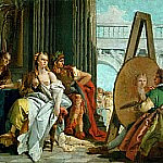 The painter Apelles drawing Campaspe, Giovanni Battista Tiepolo