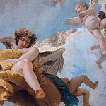 Angel with scrolls and putti taking the book, Giovanni Battista Tiepolo