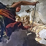 The angel dressed in red wears the scapular for the faithful, Giovanni Battista Tiepolo