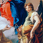 Giovanni Battista Tiepolo - Virgin with child, St. Catherine and archangel Michael, detail