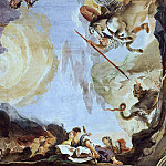 Giovanni Battista Tiepolo - The force of eloquence, detail