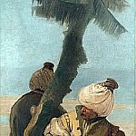 Two Orientals seated under a Tree, Giovanni Battista Tiepolo