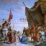Alexander the Great and the family of Darius, Giovanni Battista Tiepolo