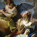 The Angel Succouring Hagar, Giovanni Battista Tiepolo