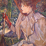 Henri De Toulouse-Lautrec - lautrec_woman_with_gloves_(honorine_p)_c1890